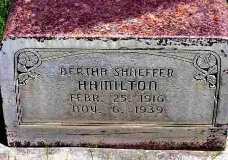 HAMILTON, BERTHA - Box Butte County, Nebraska | BERTHA HAMILTON - Nebraska Gravestone Photos