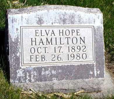 HAMILTON, ELVA HOPE - Box Butte County, Nebraska   ELVA HOPE HAMILTON - Nebraska Gravestone Photos