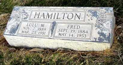 HAMILTON, FRED - Box Butte County, Nebraska | FRED HAMILTON - Nebraska Gravestone Photos