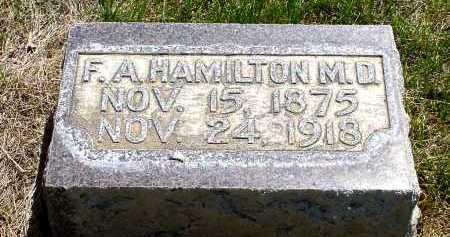 HAMILTON, F.A. - Box Butte County, Nebraska   F.A. HAMILTON - Nebraska Gravestone Photos