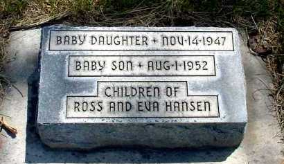 HANSEN, BABY SON - Box Butte County, Nebraska | BABY SON HANSEN - Nebraska Gravestone Photos