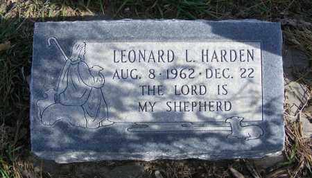 HARDEN, LEONARD L. - Box Butte County, Nebraska   LEONARD L. HARDEN - Nebraska Gravestone Photos
