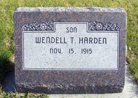 HARDEN, WENDELL T. - Box Butte County, Nebraska | WENDELL T. HARDEN - Nebraska Gravestone Photos