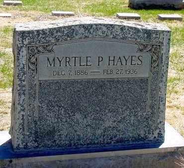 HAYES, MYRTLE P. - Box Butte County, Nebraska | MYRTLE P. HAYES - Nebraska Gravestone Photos