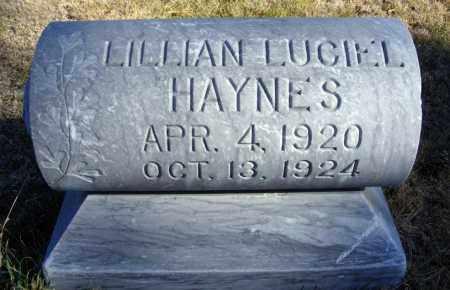 HAYNES, LILLIAN LUCIEL - Box Butte County, Nebraska | LILLIAN LUCIEL HAYNES - Nebraska Gravestone Photos