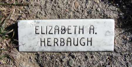 HERBAUGH, ELIZABETH A. - Box Butte County, Nebraska | ELIZABETH A. HERBAUGH - Nebraska Gravestone Photos