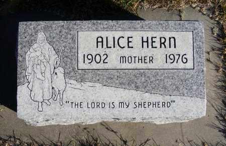 HERN, ALICE - Box Butte County, Nebraska | ALICE HERN - Nebraska Gravestone Photos