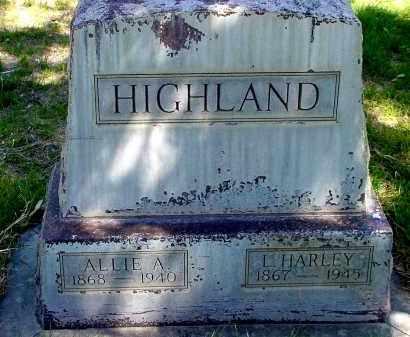HIGHLAND, ALLIE A. - Box Butte County, Nebraska   ALLIE A. HIGHLAND - Nebraska Gravestone Photos