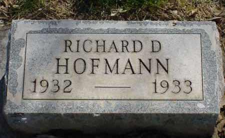 HOFMANN, RICHARD D. - Box Butte County, Nebraska   RICHARD D. HOFMANN - Nebraska Gravestone Photos