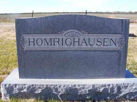 HOMRIGHAUSEN, FAMILY - Box Butte County, Nebraska | FAMILY HOMRIGHAUSEN - Nebraska Gravestone Photos
