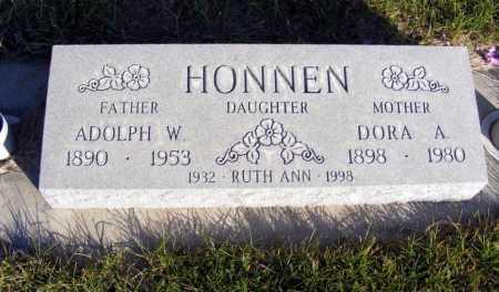HONNEN, ADOLPH W. - Box Butte County, Nebraska | ADOLPH W. HONNEN - Nebraska Gravestone Photos