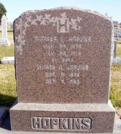 HOPKINS, THOMAS L. - Box Butte County, Nebraska | THOMAS L. HOPKINS - Nebraska Gravestone Photos