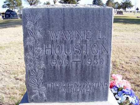 HOUSTON, WAYNE L. - Box Butte County, Nebraska | WAYNE L. HOUSTON - Nebraska Gravestone Photos