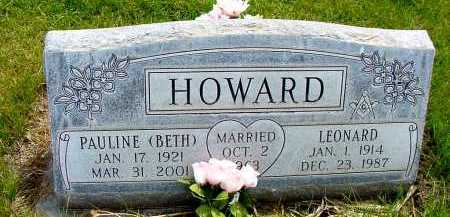 HOWARD, PAULINE (BETH) - Box Butte County, Nebraska | PAULINE (BETH) HOWARD - Nebraska Gravestone Photos