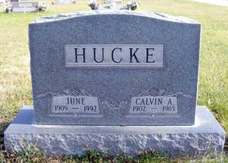 HUCKE, CALVIN A. - Box Butte County, Nebraska | CALVIN A. HUCKE - Nebraska Gravestone Photos