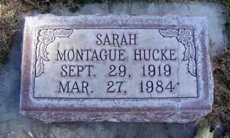 MONTAGUE HUCKE, SARAH - Box Butte County, Nebraska | SARAH MONTAGUE HUCKE - Nebraska Gravestone Photos