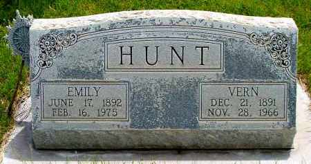 HUNT, VERN - Box Butte County, Nebraska   VERN HUNT - Nebraska Gravestone Photos
