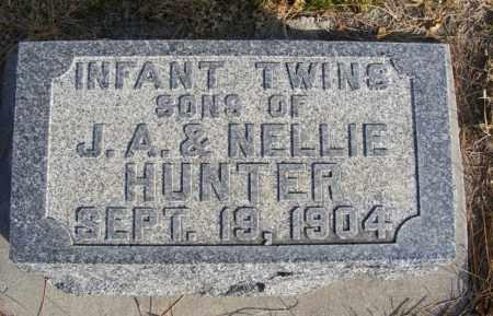 HUNTER, TWIN SONS - Box Butte County, Nebraska | TWIN SONS HUNTER - Nebraska Gravestone Photos