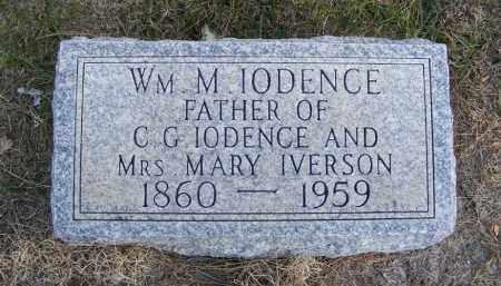 IODENCE, WILLIAM M. - Box Butte County, Nebraska   WILLIAM M. IODENCE - Nebraska Gravestone Photos