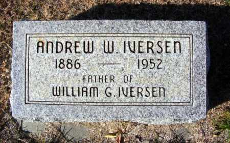 IVERSEN, ANDREW W. - Box Butte County, Nebraska   ANDREW W. IVERSEN - Nebraska Gravestone Photos