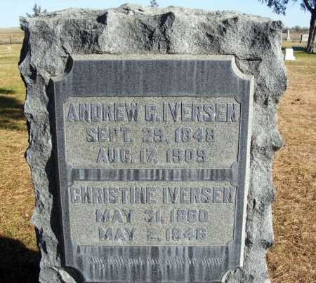 IVERSEN, ANDREW C. - Box Butte County, Nebraska | ANDREW C. IVERSEN - Nebraska Gravestone Photos