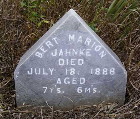 JAHNKE, BERT MARION - Box Butte County, Nebraska | BERT MARION JAHNKE - Nebraska Gravestone Photos