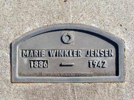 JENSEN, MARIE - Box Butte County, Nebraska   MARIE JENSEN - Nebraska Gravestone Photos