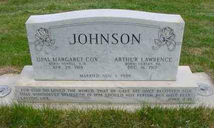 JOHNSON, ARTHUR LAWRENCE - Box Butte County, Nebraska | ARTHUR LAWRENCE JOHNSON - Nebraska Gravestone Photos