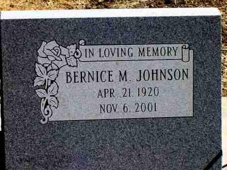 JOHNSON, BERNICE M. - Box Butte County, Nebraska | BERNICE M. JOHNSON - Nebraska Gravestone Photos