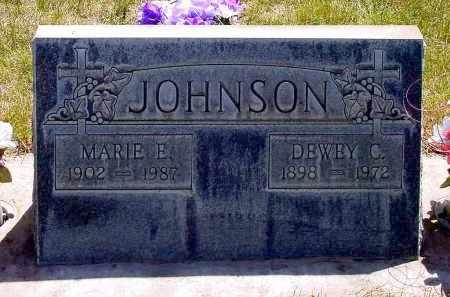JOHNSON, MARIE E. - Box Butte County, Nebraska | MARIE E. JOHNSON - Nebraska Gravestone Photos