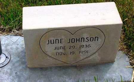 JOHNSON, JUNE - Box Butte County, Nebraska   JUNE JOHNSON - Nebraska Gravestone Photos