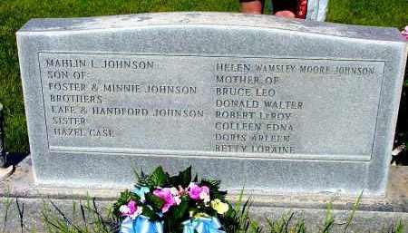 JOHNSON, MAHLIN & HELEN - Box Butte County, Nebraska | MAHLIN & HELEN JOHNSON - Nebraska Gravestone Photos