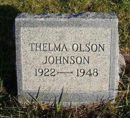OLSON JOHNSON, THELMA - Box Butte County, Nebraska | THELMA OLSON JOHNSON - Nebraska Gravestone Photos