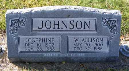 JOHNSON, W. ALLISON - Box Butte County, Nebraska   W. ALLISON JOHNSON - Nebraska Gravestone Photos