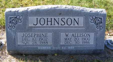 JOHNSON, W. ALLISON - Box Butte County, Nebraska | W. ALLISON JOHNSON - Nebraska Gravestone Photos