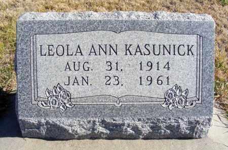 KASUNICK, LEOLA ANN - Box Butte County, Nebraska | LEOLA ANN KASUNICK - Nebraska Gravestone Photos