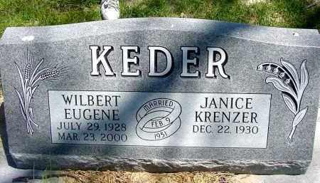 KRENZER KEDER, JANICE - Box Butte County, Nebraska | JANICE KRENZER KEDER - Nebraska Gravestone Photos