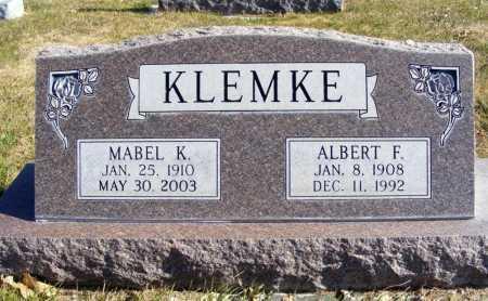 KLEMKE, ALBERT F. - Box Butte County, Nebraska | ALBERT F. KLEMKE - Nebraska Gravestone Photos