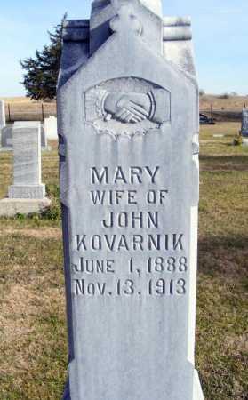 KOVARNIK, MARY - Box Butte County, Nebraska   MARY KOVARNIK - Nebraska Gravestone Photos