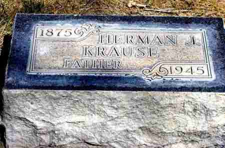 KRAUSE, HERMAN J. - Box Butte County, Nebraska | HERMAN J. KRAUSE - Nebraska Gravestone Photos