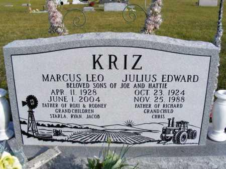KRIZ, JULIUS EDWARD - Box Butte County, Nebraska | JULIUS EDWARD KRIZ - Nebraska Gravestone Photos