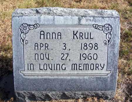 KRUL, ANNA - Box Butte County, Nebraska | ANNA KRUL - Nebraska Gravestone Photos