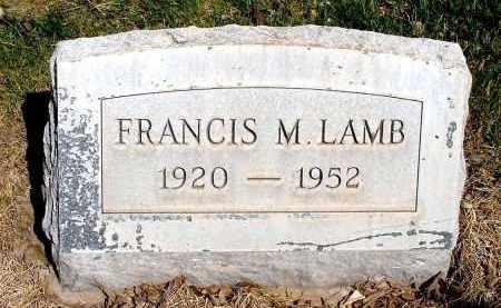 LAMB, FRANCIS M. - Box Butte County, Nebraska | FRANCIS M. LAMB - Nebraska Gravestone Photos