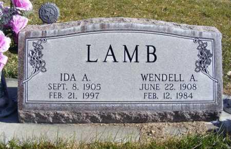 LAMB, WENDELL A. - Box Butte County, Nebraska | WENDELL A. LAMB - Nebraska Gravestone Photos
