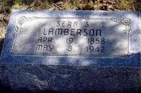 LAMBERSON, SERA S. - Box Butte County, Nebraska | SERA S. LAMBERSON - Nebraska Gravestone Photos