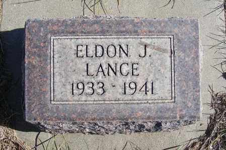 LANCE, ELDON J. - Box Butte County, Nebraska | ELDON J. LANCE - Nebraska Gravestone Photos