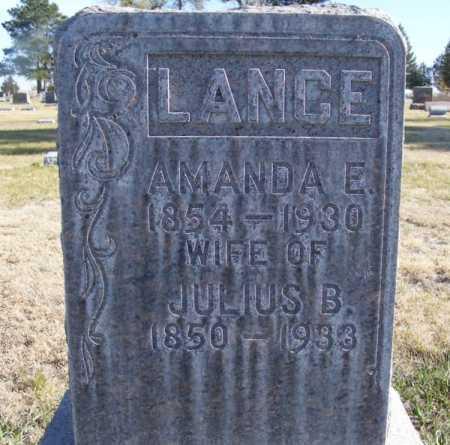 LANCE, AMANDA E. - Box Butte County, Nebraska | AMANDA E. LANCE - Nebraska Gravestone Photos