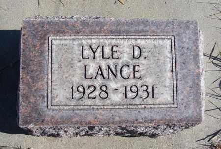 LANCE, LYLE D. - Box Butte County, Nebraska   LYLE D. LANCE - Nebraska Gravestone Photos