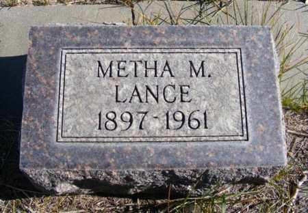 LANCE, METHA M. - Box Butte County, Nebraska | METHA M. LANCE - Nebraska Gravestone Photos
