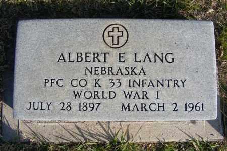 LANG, ALBERT E. - Box Butte County, Nebraska | ALBERT E. LANG - Nebraska Gravestone Photos